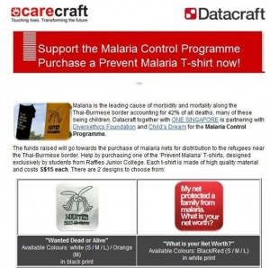 Datacraft Employees Tackle Malaria