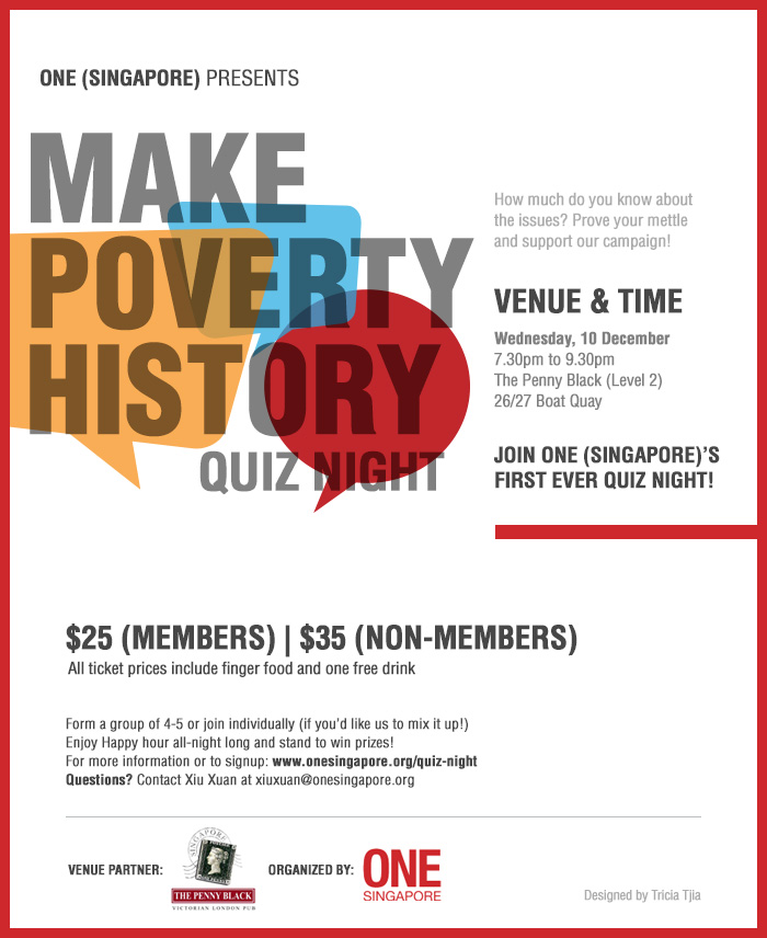 Make Poverty History Quiz Night